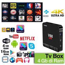 SCISHION V88 Piano TV Box 4GB RAM + 16GB ROM Android 7.1 USB3 802.11b/g/n
