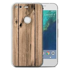 STUFF4 Gel/TPU Phone Case for Google Nexus/Pixel/Wood Grain Effect/Pattern/Cover
