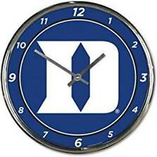 Duke Blue Devils Chrome Round Wall Clock [NEW] NCAA Sign Banner Office