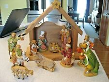 "Vintage Fontanini My First Nativity 5"" Nativity set with Creche and 11 figures"