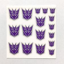 3PCS/SET Stickers Kits Clear Transformers G1 Decepticons Symbol Sticker Decal