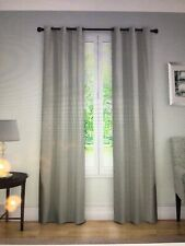 "Open Package Eclipse Nikki Gray Pinstripe Blackout Curtain Panel Grommet 40""x84"""
