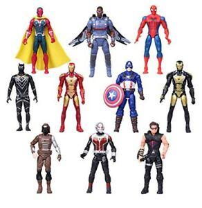 10Pcs Valibe Superhero Adventures Ultimate Superhero Set 6.7 Inch Figures Read