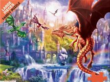 Jigsaw Puzzle Fantasy Dragon Kingdom 500 large pieces NEW Made in USA