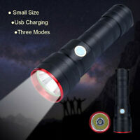 Super Bright Rechargeable USB Mini LED Torch With Beam Focusing Flashlight 18650