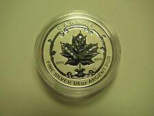 2015 Reverse Proof $3 Incuse Sugar Maple SML from set Canada 1/4oz .9999 silver