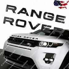 1x RANGE ROVER Emblem Matte Black Decal Sticker Front Hood Rear Trunk Badge