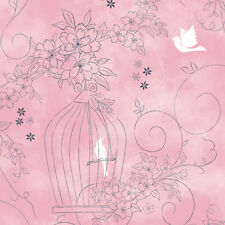 Pink Self Adhesive Wallpaper Rolls Vinyl Wall Covering Kids Girls Room Ideas
