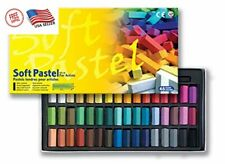 Easy To Draw Non Toxic Soft Touch Pastel Set of 48 Assorted Colors Square Chalk