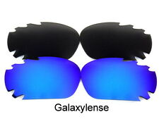 Galaxy Replacement Lenses For Oakley Jawbone Sunglasses Black&Blue Polarized