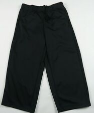 Adidas Boys Girls Polyester Clima Lite Black Activewear Track Pants Youth Small