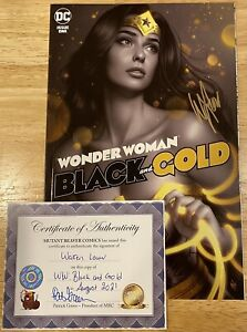 WONDER WOMAN BLACK AND GOLD 1 SIGNED BY WARREN LOUW WITH COA VARIANT TRADE DRESS