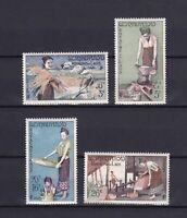 LAOS 1957, Sc#37-40, MNH