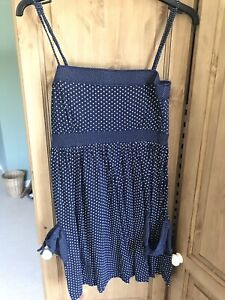 Soul Cal Womens Summer Minidress Navy Spotted Size 8 With Pockets