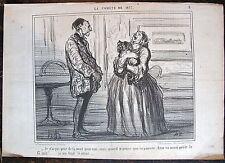 DAUMIER, LITHOGRAPHIE ORIGINALE, LA COMETE DE 1857 N° 8, PEUR DE LA MORT