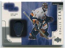 2001-02 UD Top Shelf Goalie Gear RL Roberto Luongo Leg Pad