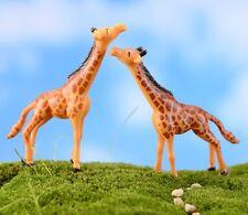 2 pcs Miniature Giraffe Miniature Fairy Garden Animal Ornament Terrarium Supply