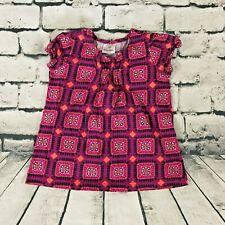 Hanna Andersson Girls Short Sleeve Shirt Geometric Print Size 120 6/7/8