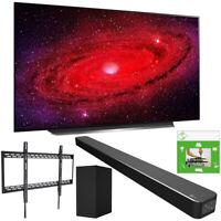 "LG 77"" CX 4K Smart OLED TV w/ AI ThinQ (2020) + LG SN6Y Sound Bar Bundle"