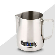Thick 304 Stainless Steel Coffee Frothing Milk Latte Jug Cup Temper Display