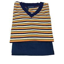 BLUMSFIELD pigiama uomo corto blu arancio 100% cotone I 50-EUR 44-F 46-USA L