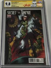 Secret Empire #3 1:50 RI Variant Signed Stan Lee & Campbell CGC 9.8 SS Red Label