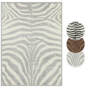Teppich Boss Design Kurzflor Teppich Zebra Tierfell Muster