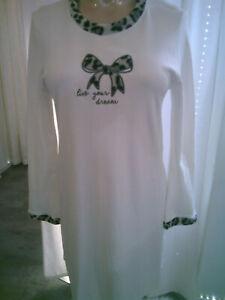Nachthemd Gr. 40       weiß    100% Baumwolle   Schnapp-MIch-WSV!!!!!!
