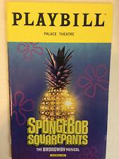 SPONGEBOB SQUAREPANTS PLAYBILL BOOK THEATRE NEW YORK BROADWAY JAN 2018 OBC
