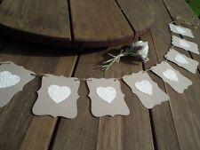 HEARTS embossed Wedding/Engagement banner -bunting flag/garland-decoration -sign