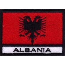 [Patch] BANDIERA ALBANIA cm 7 x 5 toppa ricamata ricamo ALBANIA -012