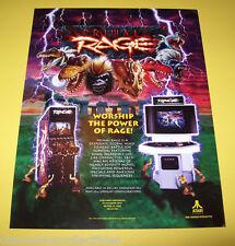 Atari PRIMAL RAGE Original 1994 NOS Video Retro Arcade Game Promo Sales Flyer