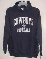 NWT New Dallas Cowboys MEN'S Logo Pullover Hoodie SweatShirt Navy Blue Sz M