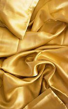 4 pc 100% Mulberry silk charmeuse sheet set Queen Gold by Feeling Pampered