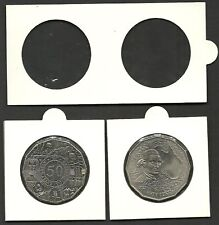 LIGHTHOUSE COIN HOLDERS 2 x 2 Staple Type 35mm Suits 50c Coin Size - Pack 100
