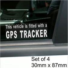 4 X Gps Tracker ajustada Alarma de advertencia stickers-vehicle, Auto, Camioneta, Taxi Cab Seguridad