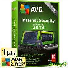 AVG Internet Security 2019 UNBEGRENZT | Alle Ihre Geräte /PC,Mac,Android/ DE UE