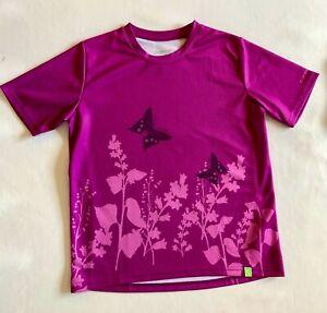 Girl's Cannondale Cycling Shirt Jersey- Large Purple/Pink