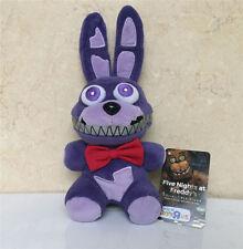"New FNAF Five Nights At Freddy's Nightmare Bonnie Purple 6"" Plush Toy Doll"