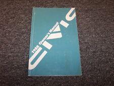 1988 Honda Civic Sedan Hatchback Owner Owner's Manual User Guide DX LX