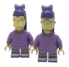 x2 **NEW** Custom 3D Printed Simpsons - SHERRI & TERRI - TV Block Minifigures
