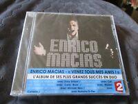 "CD NEUF ""ENRICO MACIAS : VENEZ TOUS MES AMIS"" duos avec Carla Bruni, Cali, ..."