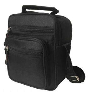 Messenger Bag Black Cross Body Shoulder Utility Sports Travel Work Men Women