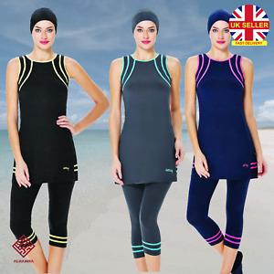 AlHamra AL0140 Capri Modest Burkini Swimwear Swimsuit Muslim Islamic Costumes UK