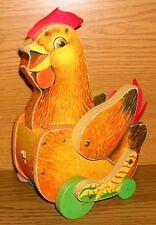 Fisher Price Holzspielzeug Cackling Hen Henne Nachziehspielzeug FP 123