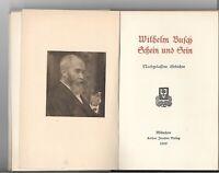Busch, Wilhelm:Schein und Sein. Nachgelassene Gedichte Erstausgabe 1909