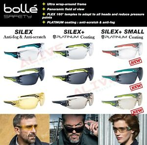 Bolle Safety Glasses Spectacles SILEX Anti-fog Anti-scratch Lens UV Protection