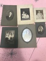 LOT Of 6 Antique Victorian Tintype & Photos Babies Children Dresses Michigan