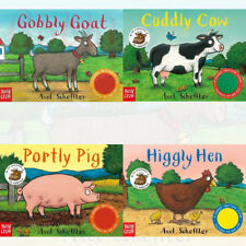 Axel Scheffler's Gobbly Goat Higgly Hen Portly Pig Cuddly Cow 4 Books Set Mixed