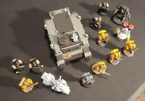 warhammer 40k space marines + rhino used